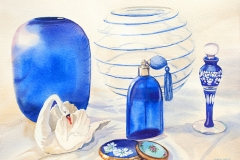 Still Life with Blenko Glass