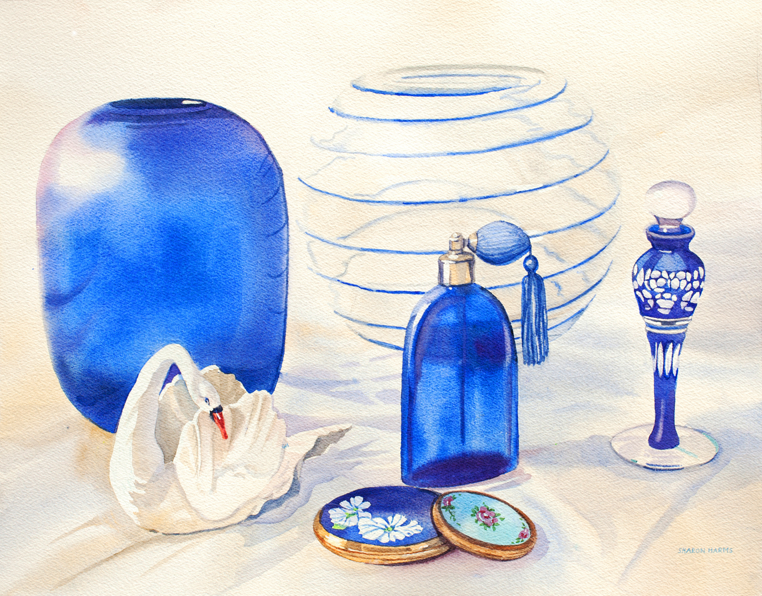 Still Life with Blenko Glass